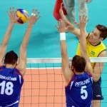 Brazil's Murilo Endres spikes
