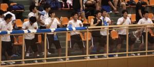 応援が印象的だった西日本工業大学 試合以外にも楽しい要素がちりばめられているのが大学バレー