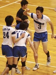東亜大学:センター橋本大樹選手(#3/4年)