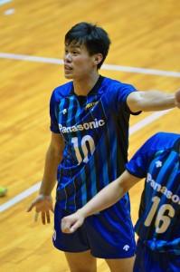 近畿総合大会でパナソニックの選手としてデビュー