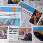 連日、協会の不祥事とポーランド大会の処分を伝える新聞