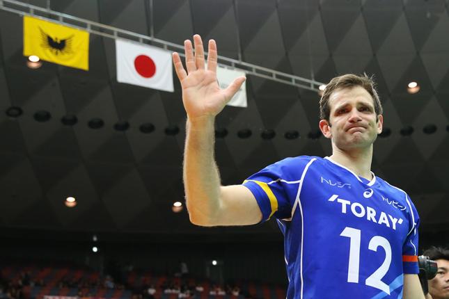 2015年春の黒鷲旗で引退したボヨビッチ氏。日本をこよなく愛し、全日本男子の改善について提言を行っている。