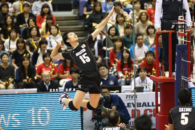 MIPを受賞した柳田将洋選手