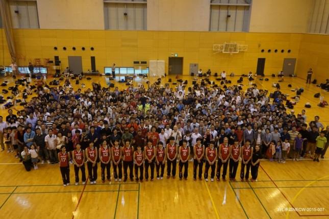 会員の方々を体育館にお招きして実施するファン感謝祭 (JVL承認NECW-2015-007)