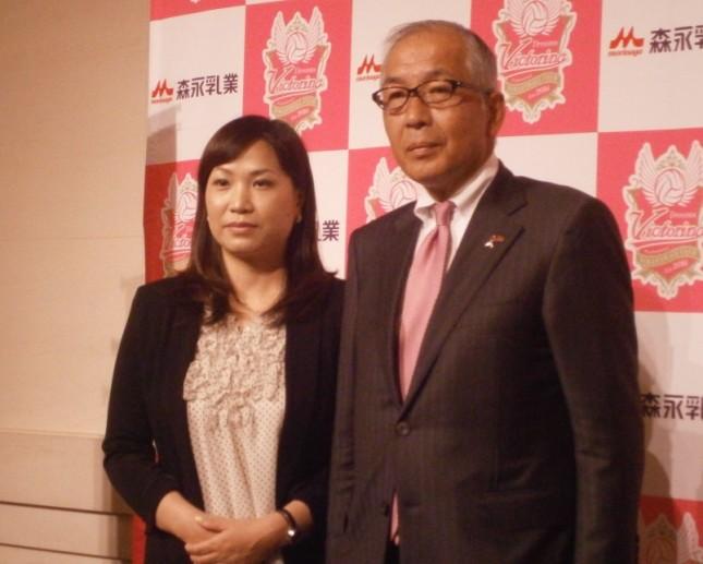 協賛の森永乳業株式会社・野口純一代表取締役副社長と