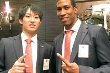 柳田選手とエスコバル選手