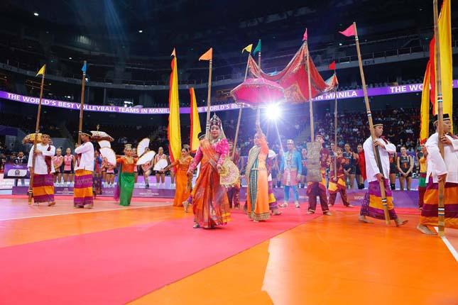 閉会式ではフィリピンの伝統舞踊が披露された