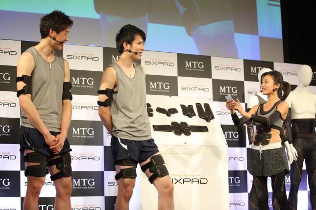 平田選手はレッグベルトを装着